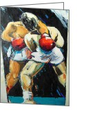 Sports Art Painting Greeting Cards - Boxing Greeting Card by Lucia Hoogervorst