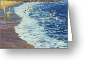 Spume Greeting Cards - Breakers Greeting Card by Martin Decent