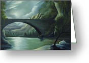James Christopher Hill Greeting Cards - Bridge to Nowhere Greeting Card by James Christopher Hill