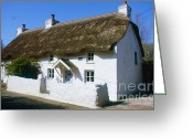 Paul Cowan Greeting Cards - British thatched house Greeting Card by Paul Cowan