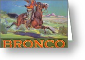 Foothill Greeting Cards - Bronco Oranges Greeting Card by American School