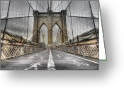Bridge Greeting Cards - BrooklinBridge Greeting Card by Alessandro Ciabini
