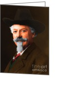 American Cowboy Digital Art Greeting Cards - Buffalo Bill Cody 20130516 Greeting Card by Wingsdomain Art and Photography