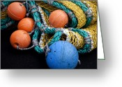 Carol Leigh Greeting Cards - Buoys and Nets Greeting Card by Carol Leigh