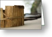 Point Of View Greeting Cards - Bushel Basket Greeting Card by Rebecca Sherman