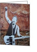 Springsteen Painting Greeting Cards - Bust This City In Half Greeting Card by Stuart Engel