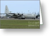 Featured Greeting Cards - C-130j Super Hercules Of The Royal Thai Greeting Card by Remo Guidi