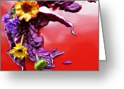 Eateries Greeting Cards - Cabbage Arrangement Greeting Card by Sarah Loft