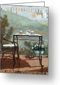 Guido Borelli Greeting Cards - Caffe Cappuccino E Latte Greeting Card by Guido Borelli