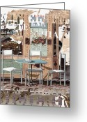 Guido Borelli Greeting Cards - Caffe E Latte Greeting Card by Guido Borelli