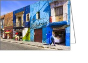 Puebla Greeting Cards - Calm and Colorful Street in Puebla Greeting Card by Mark E Tisdale