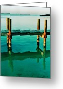 Florida Living Greeting Cards - Calm Greeting Card by Benjamin Yeager