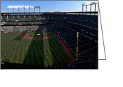 Baseball Framed Prints Greeting Cards - Camden Yards left field Greeting Card by Matt Zerbe