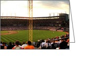 Baseball Framed Prints Greeting Cards - Camden Yards right field Greeting Card by Matt Zerbe