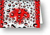 National Flag Greeting Cards - Canada Flag In Water Drops Greeting Card by Mingqi Ge