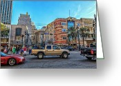 African Heritage Greeting Cards - Canal Street Greeting Card by Sennie Pierson