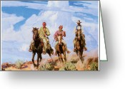 Riders Greeting Cards - Carl Oscar Borg Greeting Card by Sons of the Desert