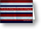 President Obama Greeting Cards - Carpe Diem Series - Barack Obama Greeting Card by Andrea Anderegg