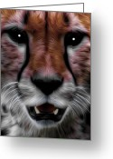 Barry Styles Greeting Cards - Cateyes Greeting Card by Barry Styles