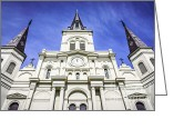 Roman Catholic Greeting Cards - Cathedral-Basilica of St. Louis King of France Greeting Card by Paul Velgos