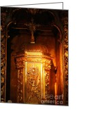 Gaspar Avila Greeting Cards - Catholic tabernacle  Greeting Card by Gaspar Avila
