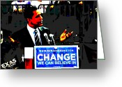 President Obama Greeting Cards - Change Greeting Card by Bryan Eaton