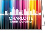 Capital Mixed Media Greeting Cards - Charlotte NC 2 Greeting Card by Angelina Vick