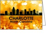 Capital Mixed Media Greeting Cards - Charlotte NC 3 Greeting Card by Angelina Vick