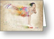 Ice Skater Greeting Cards - Chase Your Dreams Greeting Card by Nikki Smith