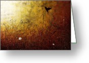 Poster Print Greeting Cards - Chasing the Light Greeting Card by Carmen Guedez