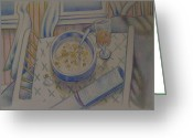 Water Drawings Greeting Cards - Cheerios   1994 Greeting Card by Larry Preston