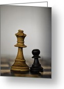 Chessman Greeting Cards - Chess Greeting Card by Arisha Singh