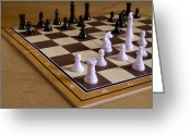 Chessman Greeting Cards - Chess Greeting Card by Stanislav Tcolov
