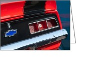 American Vintage Greeting Cards - Chevrolet Camaro Taillight Emblem Greeting Card by Jill Reger
