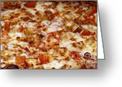 Dinner Greeting Cards - Chicken And Diced Tomato 2 - Pizza - Pizza Shoppe Greeting Card by Andee Photography