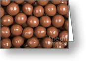 Temptation Greeting Cards - Chocolate sweet background Greeting Card by Jane Rix