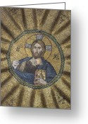 Pantocrator Greeting Cards - Christ Pantocrator surrounded by the prophets of the Old Testament 2 Greeting Card by Ayhan Altun