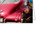 T-bird Greeting Cards - Chrome Dream 1948 Cadillac Fastback Greeting Card by David M Davis