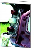 T-bird Greeting Cards - Chrome Dream 1956 De Soto Firedome Greeting Card by David M Davis