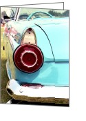 T-bird Greeting Cards - Chrome Dream 1956 Ford Thunderbird Greeting Card by David M Davis