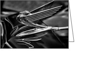 Christopher Holmes Greeting Cards - Chrome Wings - BW Greeting Card by Christopher Holmes