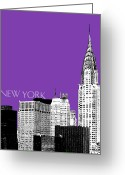 Ink Greeting Cards - Chrysler Building Greeting Card by Dean Caminiti