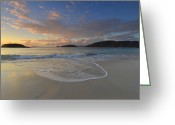 Bay Islands Greeting Cards - Cinnamon Bay At Sunset Greeting Card by Stephen  Vecchiotti