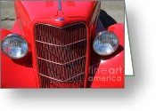 Classic Ford Roadster Greeting Cards - Classic Ford Roadster 5D22798 Greeting Card by Wingsdomain Art and Photography