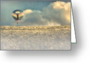 Hot Air Balloon Photo Greeting Cards - Clouds Within Clouds Greeting Card by Bob Orsillo