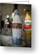 Bottle Cap Greeting Cards - Coca-Cola Sculpture Greeting Card by Jessica Berlin