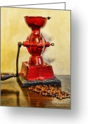 Coffee Beans Greeting Cards - Coffee The Morning Grind Greeting Card by Paul Ward