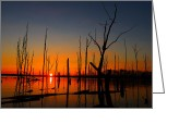 Raymond Salani Iii Greeting Cards - Cold Morning Sunrise Greeting Card by Raymond Salani III