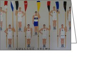 Yale Painting Greeting Cards - College Crews Greeting Card by Sasha Kesar