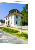 Colonial Scene Greeting Cards - Colonial Americana In Williamsburg Greeting Card by Mark E Tisdale